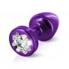 Пробочка Diogol Anni R Clover Purple Кристалл 30мм, 4 кристалла Swarovsky в виде листка клевера