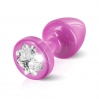 Пробочка Diogol Anni R Clover Pink Кристалл 30мм, 4 кристалла Swarovsky в виде листка клевера