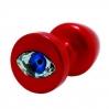 Анальная пробка Diogol Anni R Eye Red Кристалл 30мм, кристалл Swarovsky в виде глаза