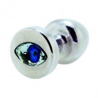 Анальная пробка Diogol Anni R Eye Silver Кристалл 30мм, кристалл Swarovsky в виде глаза