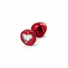 Анальная пробка Diogol Anni R Heart Red: Кристалл 30мм, с кристаллом Swarovsky в виде сердечка