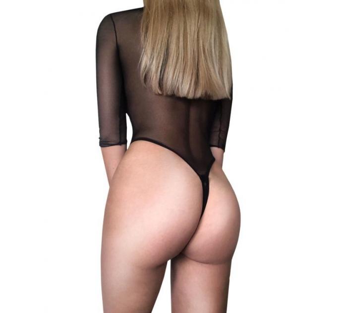 Сексуальное боди-сетка с открытой попкой AGATHA D&A размер M