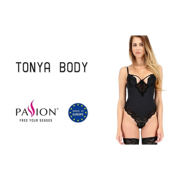 Боди TONYA BODY black XXL/XXXL - Pasison Exclusive