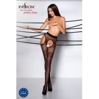 Эротические колготки TIOPEN 002 nero 3/4 (20 den) - Passion, имитация чулок и пояса