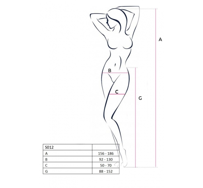 Эротические колготки-бодистокинг Passion S012 red, имитация чулок, пояса и ажурных трусиков