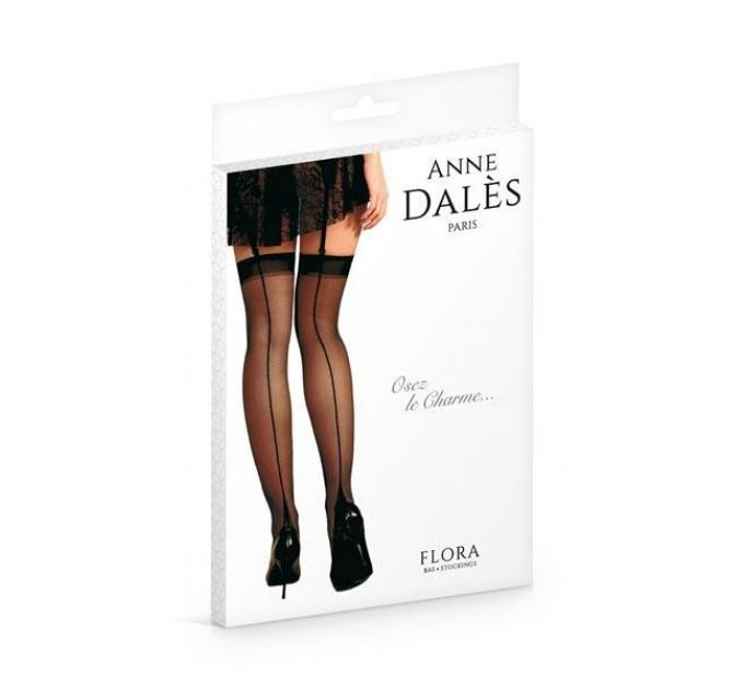 Чулки Anne De Ales FLORA T4 Black