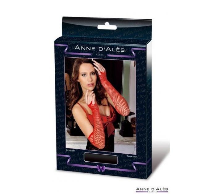 Митенки сетка Anne De Ales Red