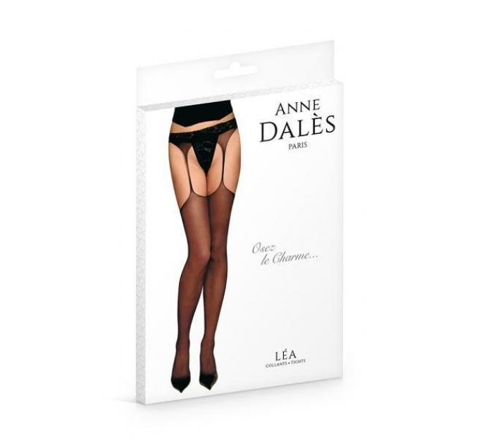 Чулки с поясом Anne De Ales LEA T4 Black, отлично для pinup образа