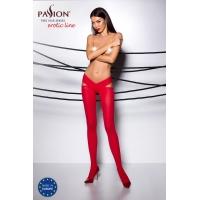Эротические колготки TIOPEN 005 roso 1/2 (60 den) - Passion, с вырезом, оригинальный пояс