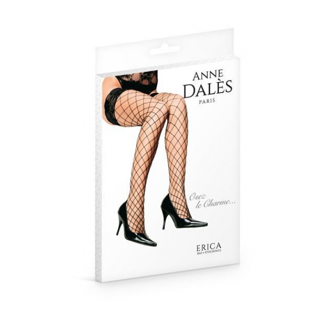 Чулки в крупную сетку Anne De Ales ERICA T3 Black