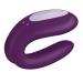 Смарт-вибратор для пар Satisfyer Double Joy Violet с широким клиторальным стимулятором