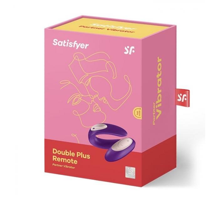 Вибратор для пар Satisfyer Double Plus Remote с пультом ДУ и двумя моторчиками