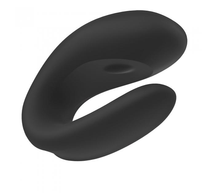 Смарт-вибратор для пар Satisfyer Double Joy Black с широким клиторальным стимулятором