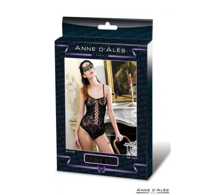 Боди сетка Anne De Ales BAROQUE Black XL
