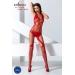 Бодистокинг Passion BS060 red, комбинезон, имитация трусиков и гольфиков