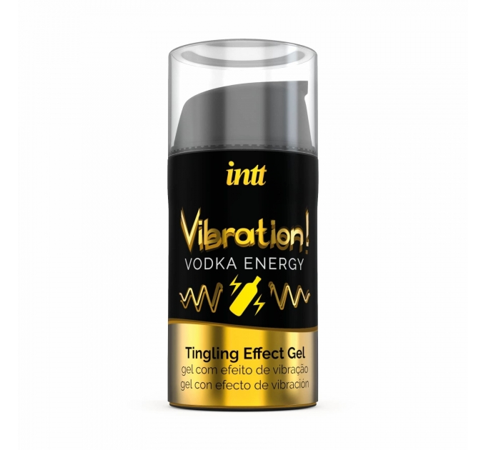Жидкий вибратор Intt Vibration Vodka (15 мл), густой гель, очень вкусный, действует до 30 минут