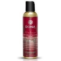 Массажное масло DONA Kissable Massage Oil Strawberry Souffle (110 мл) можно для оральных ласк