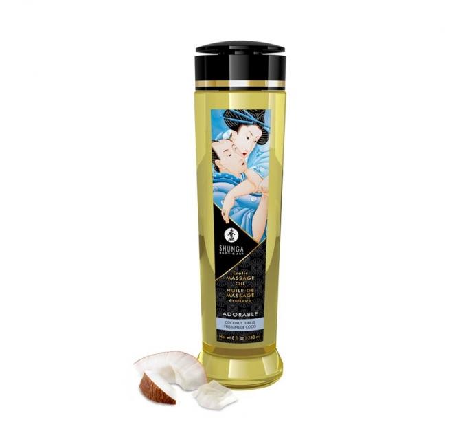 Массажное масло Shunga Adorable - Coconut thrills (240 мл) натуральное увлажняющее