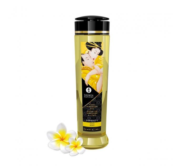 Массажное масло Shunga Serenity - Monoi (240 мл) натуральное увлажняющее