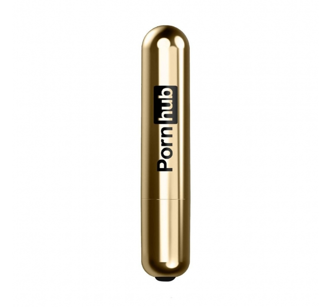 Вибропуля Pornhub Bullet перезаряжаемая, 10 режимов работы, магнитная зарядка, водонепроницаемая