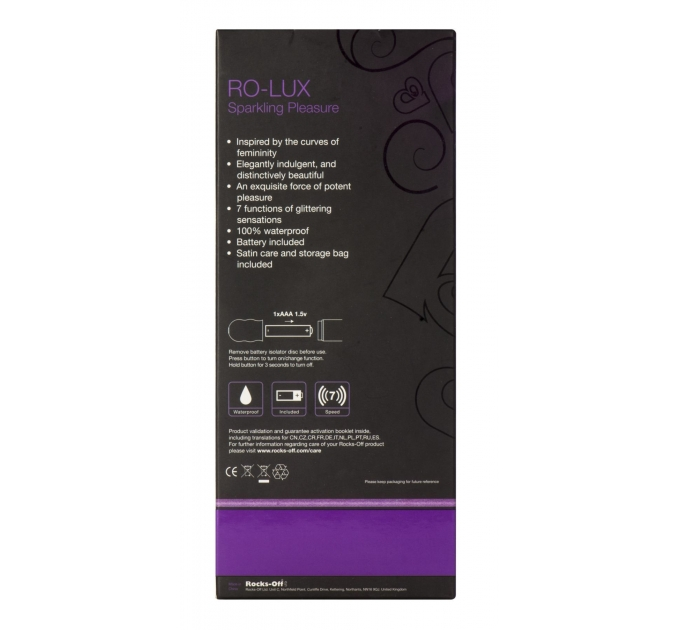 Вибратор Rocks Off RO-Lux Sparkling Purple