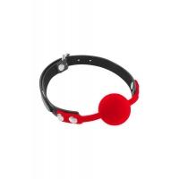 Классический кляп с силиконовым шариком Fetish Tentation Silicone Gag Ball Red