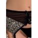 Комплект белья MONTANA SET black XXL/XXXL - Passion Exclusive: лиф, стринги и пояс для чулок