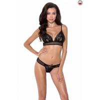 Комплект белья ERZA SET black XXL/XXXL - Passion: лиф и трусики