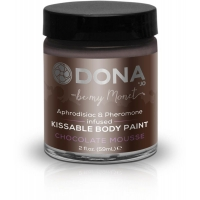 Краска для тела Dona Kissable Body Paint - CHOCOLATE MOUSSE с феромонами и афродизиаками, кисточка