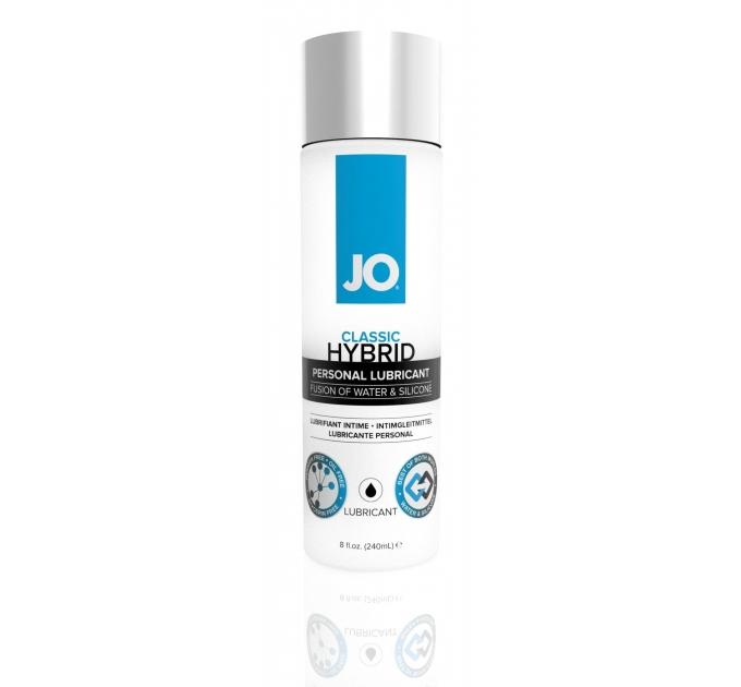 Густая смазка водно-силиконовая System JO Classic Hybrid (240 мл) без парабенов, глицерина и масел