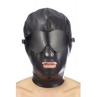 Капюшон для БДСМ со съемной маской Fetish Tentation BDSM hood in leatherette with removable mask