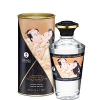 Разогревающее масло Shunga Aphrodisiac Warming Oil - Vanilla Fetish (100 мл) без сахара, вкусный