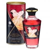 Разогревающее масло Shunga Aphrodisiac Warming Oil - Sparkling Strawberry Wine (100 мл) без сахара