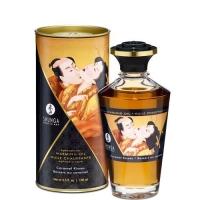 Разогревающее масло Shunga Aphrodisiac Warming Oil - Caramel Kisses (100 мл) без сахара, вкусный