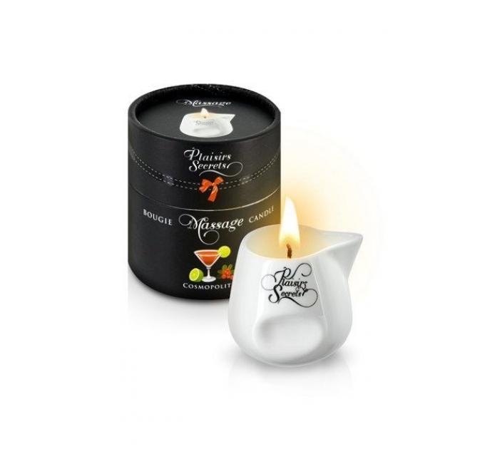 Массажная свеча Plaisirs Secrets Cosmopolitan (80 мл) подарочная упаковка, керамический сосуд