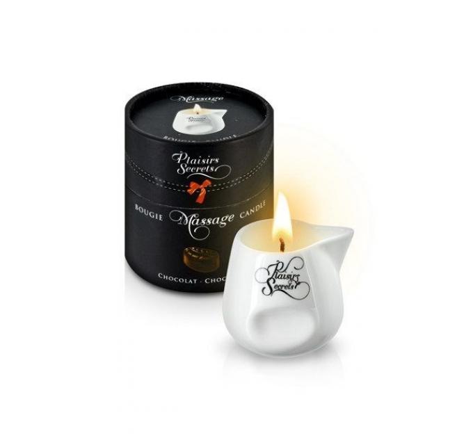 Массажная свеча Plaisirs Secrets Chocolate (80 мл) подарочная упаковка, керамический сосуд