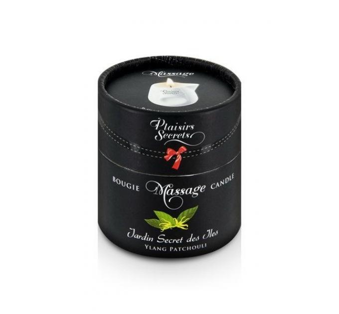 Массажная свеча Plaisirs Secrets Ylang Patchoul (80 мл) подарочная упаковка, керамический сосуд