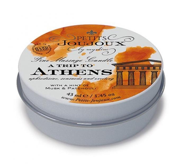 Массажная свечa Petits Joujoux - Athens - Musk and Patchouli (43 мл) с афродизиаками