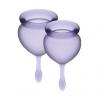 Набор менструальных чаш Satisfyer Feel Good (lila), 15мл и 20мл, мешочек для хранения