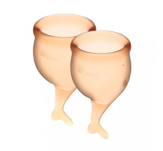 Набор менструальных чаш Satisfyer Feel Secure (orange), 15мл и 20мл, мешочек для хранения