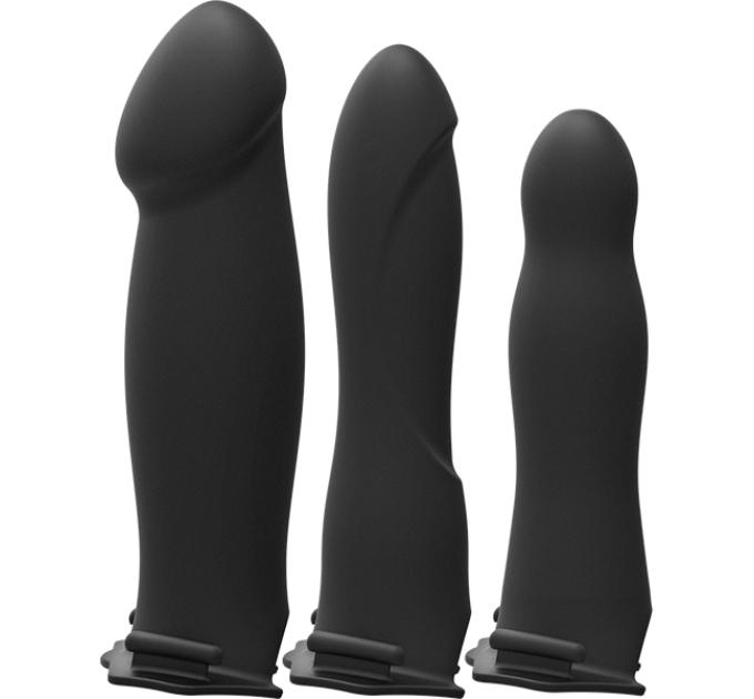 Набор для страпона с вибрацией Doc Johnson Body Extensions - BE Naughty - Black