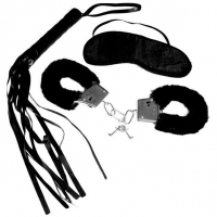 Набор для начинающих Sex and Mischief - Intro to S&M Kit Black (наручники, маска, флоггер)
