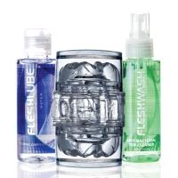 Мастурбатор Fleshlight Quickshot Vantage Value Pack: смазка и чистящее средство