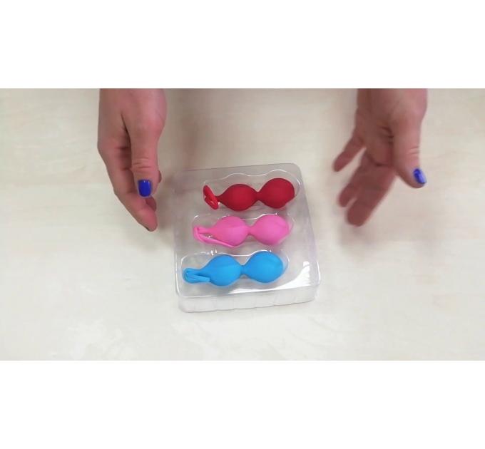Вагинальные шарики Satisfyer Power Balls (3 пары), диаметр 3,4см, вес 60-76-92гр, с шариком внутри