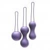 Набор вагинальных шариков Je Joue - Ami Purple, диаметр 3,8-3,3-2,7см, вес 54-71-100гр