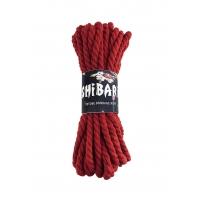 Хлопковая веревка для Шибари Feral Feelings Shibari Rope, 8 м красная