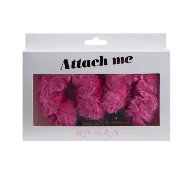 Наручники с плюшевой отделкой Love To Love ATTACH ME Pink