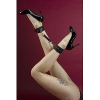 Поножи Feral Feelings - Ankle Restraints, натуральная кожа, черные