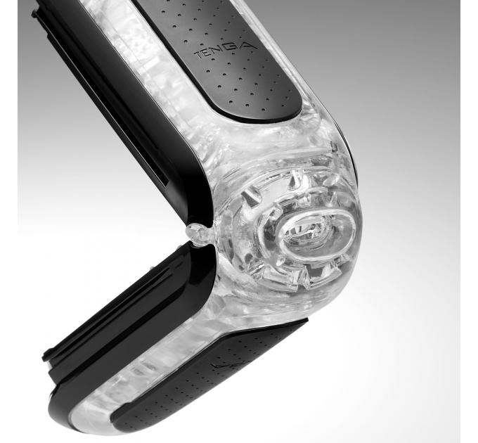 Мастурбатор Tenga Flip Zero Black, изменяемая интенсивность стимуляции, раскладной