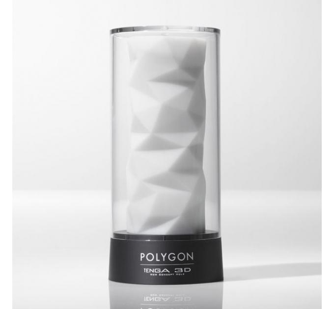 Мастурбатор Tenga 3D Polygon, очень нежный, из антибактериального эластомера с серебром